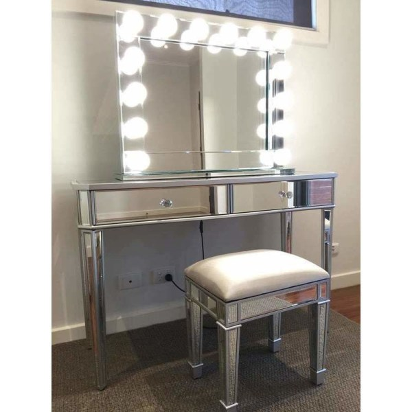 Vanity Makeup Table with Drawers