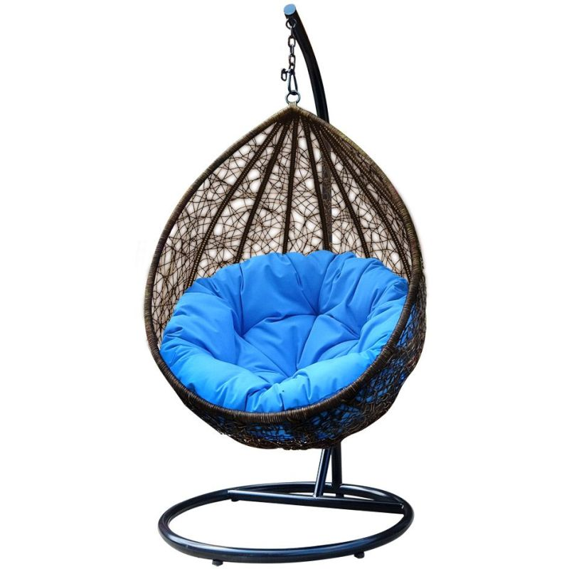 Maxwell Outdoor Rattan Hanging Egg Chair in Brown