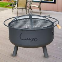 Milan 2 in 1 Outdoor Portable Fire Pit & BBQ Grill | Buy ...