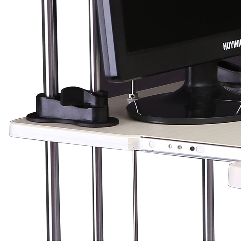 Sherwin 2 Tier Adjustable Sit  Standing Desk White  Buy