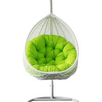 Outdoor Wicker Hanging Egg Chair in White | Buy Hanging Chairs