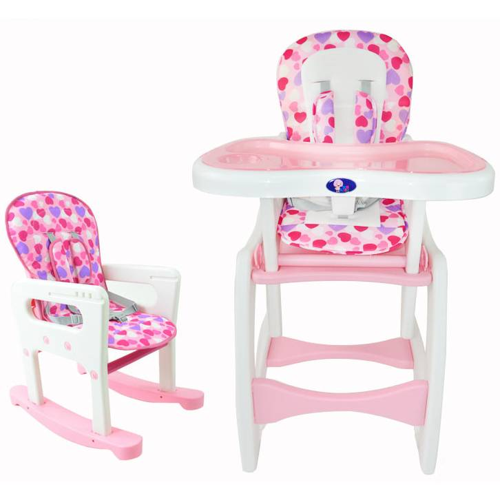 4in1 Adjustable Baby Dining High Chair Set Pink  Buy