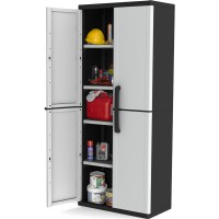 Keter 4 Shelf Winner Plastic Garage Storage Cabinet