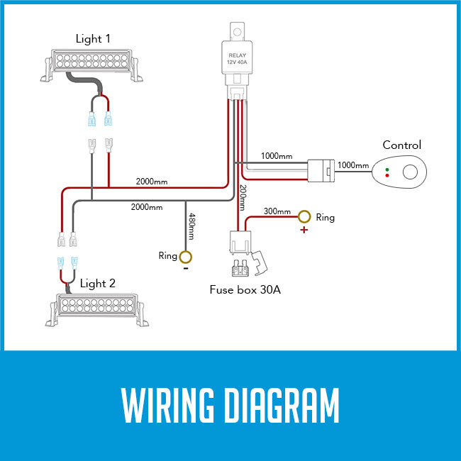 Mall Switch Relay Wiring Harness Kit For Led Work Fog Light Bar
