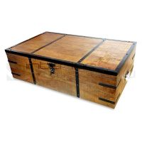 Atlantic Rustic Wood Trunk Storage Box Coffee Table | Buy ...