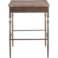 Minimal Rustic Wrought Iron & Wood Side End Table | Buy ...
