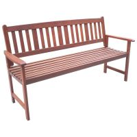 Outdoor 3 Seater Wooden Garden Bench Seat Chair | Buy ...