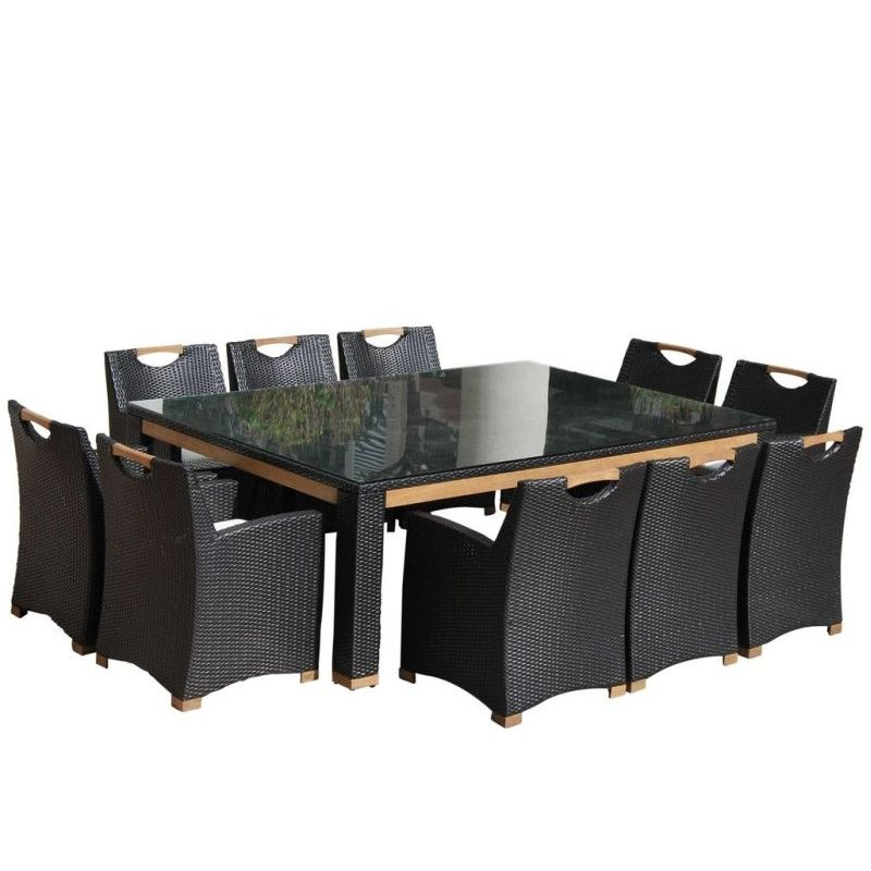 Freedom Outdoor 10 Seat Wicker Dining Set Charcoal  Buy