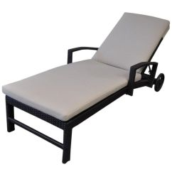 Cheap Sun Lounge Chairs Revolving Chair Rajkot Miami Outdoor Bed W Wheels In Charcoal Buy Lounges H M S Remaining