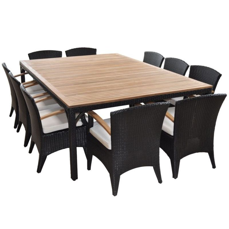 Kai Outdoor 10 Seat Wicker Dining Set in Charcoal  Buy 10