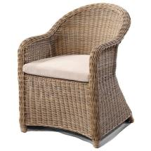 Plantation Outdoor Curved Wicker Dining Arm Chair