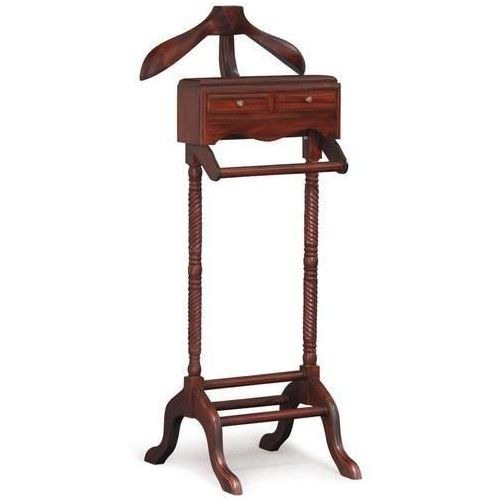Jepara Timber Clothes Valet Stand Rack in Mahogany  Buy