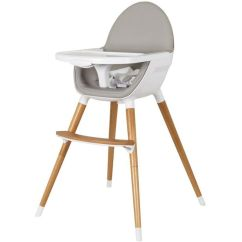 Padded Kitchen Mats Wall Unit Carcasses Childcare Baby High Chair W/ Timber Legs In White | Buy ...