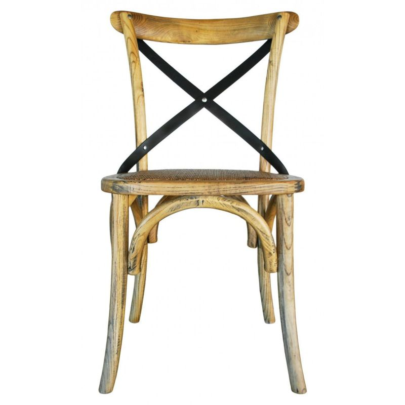 Vintage Provincial Iron Cross Back Dining Chair  Buy
