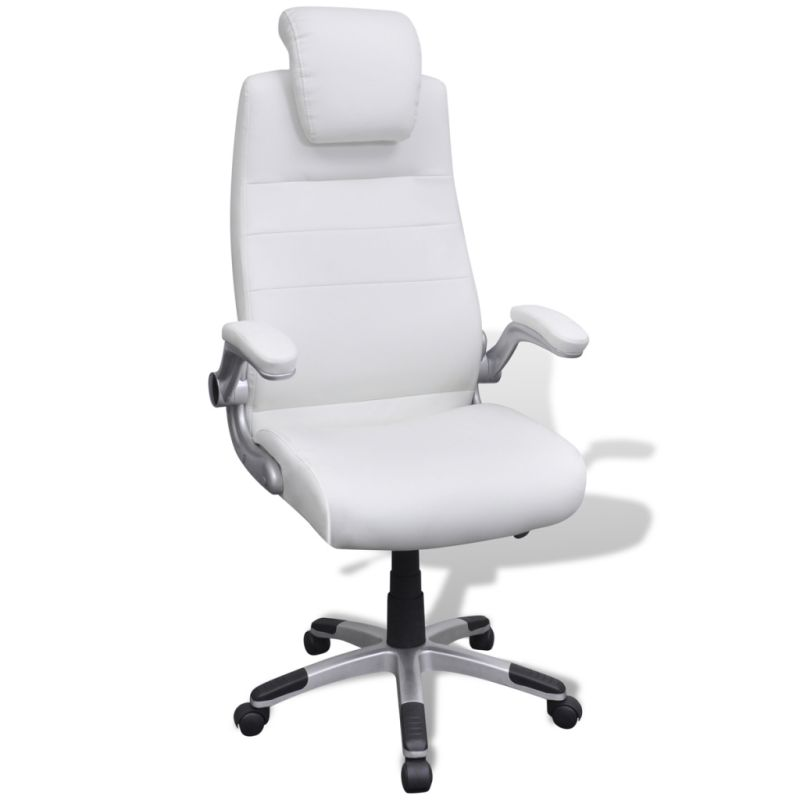 ergonomic chair kneeling review twin sleeper sofa adjustable swivel office in white pvc leather | buy chairs