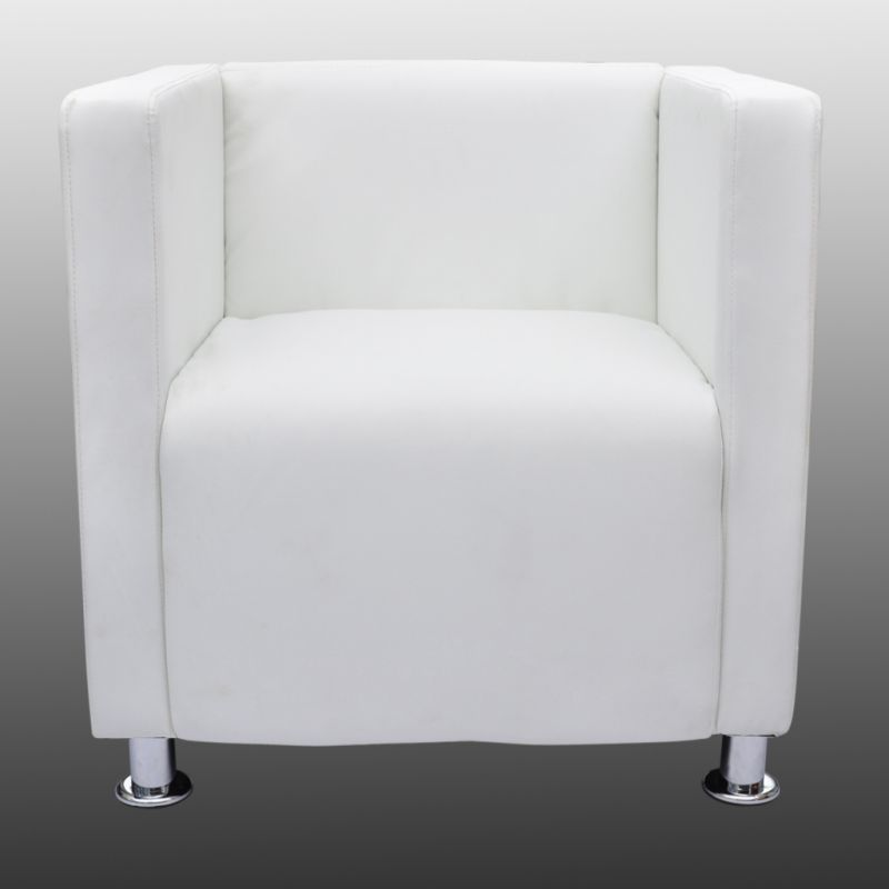 kid recliner chair cheap covers.com square tub faux leather lounge armchair in white | buy armchairs