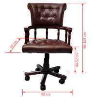 Vintage Genuine Leather Chair Office Arm Brown ...