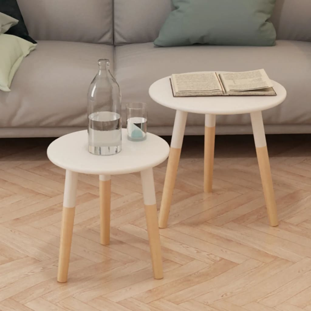 white living room side table classy furniture vidaxl solid pinewood set 2 piece h m s remaining stand