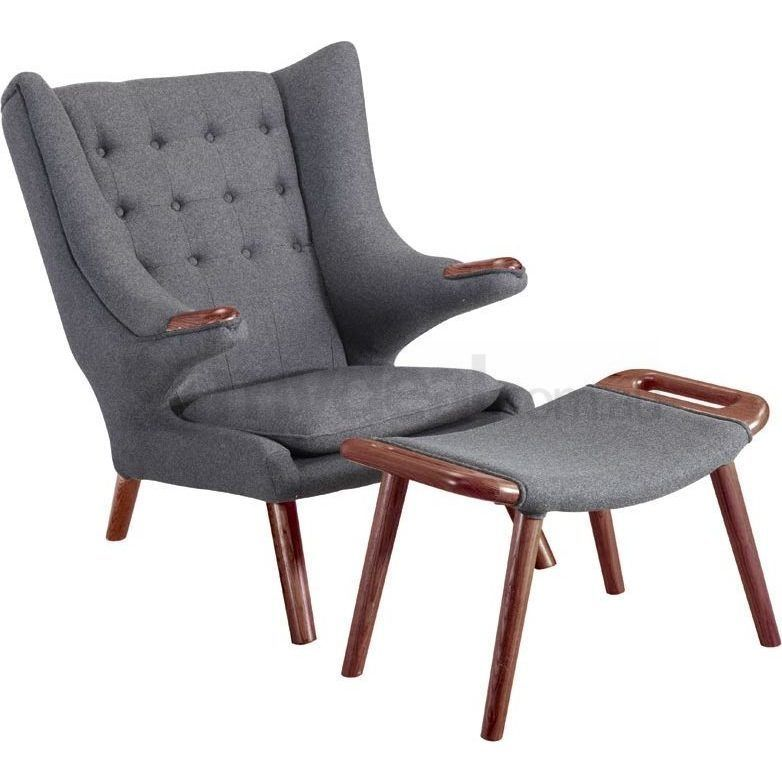 hans wegner lounge chair replica target dining room chairs papa bear in charcoal | buy armchairs & accent - 184058