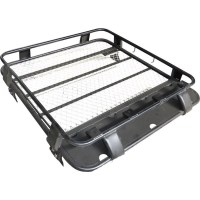 4x4 Steel Half Length Roof Rack Luggage Basket