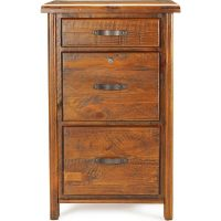 Farmhouse Rustic Solid Timber Filing Cabinet