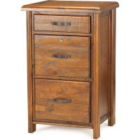 Farmhouse Rustic Solid Timber Filing Cabinet   Buy Filing ...