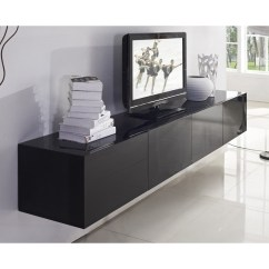 Eames Chairs For Sale Modern Waiting Room Majeston Floating Tv Cabinet In Gloss Black 2.4m   Buy Wall Units - 194259