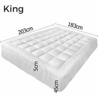 King Size Pillow Top Mattress Topper Protector | Buy King ...