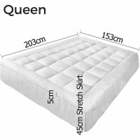 Queen Size Pillow Top Mattress Topper Protector