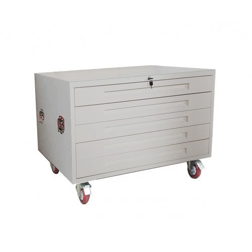 A1 Plan 5 Drawer Horizontal Cabinet with Wheels  Buy