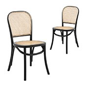 genuine leather dining chairs melbourne inflatable gaming chair affordable black white modern sets of 2