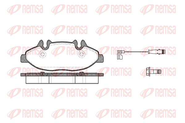 REMSA Front Brake Pad Set 1109.02 fits Mercedes-Benz Vito