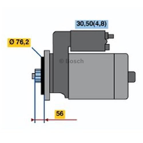 small resolution of details about bosch starter motor 0 001 120 406 fits skoda fabia 1 2 5j 63kw 1 2 77 tsi