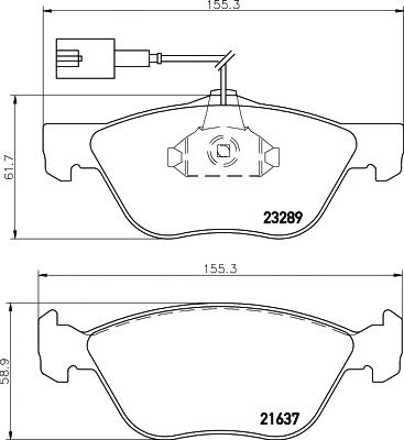HELLA Pagid Brake Pad Set Front T1099 fits Alfa Romeo 156