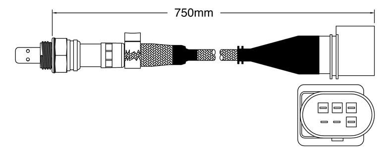 PAT Oxygen Lambda Sensor EGO-116 fits Volkswagen Caddy 1.6
