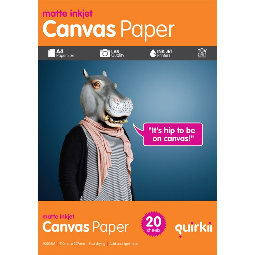 quirkii a4 canvas paper