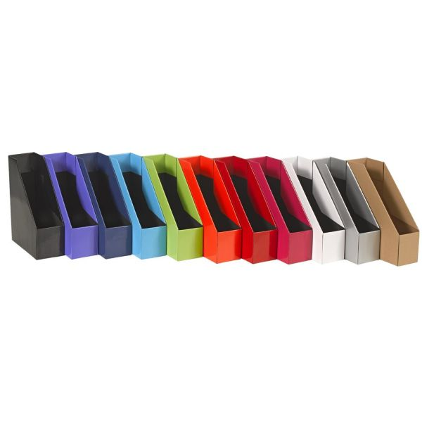 Collapsible Cardboard Magazine File Black Officeworks