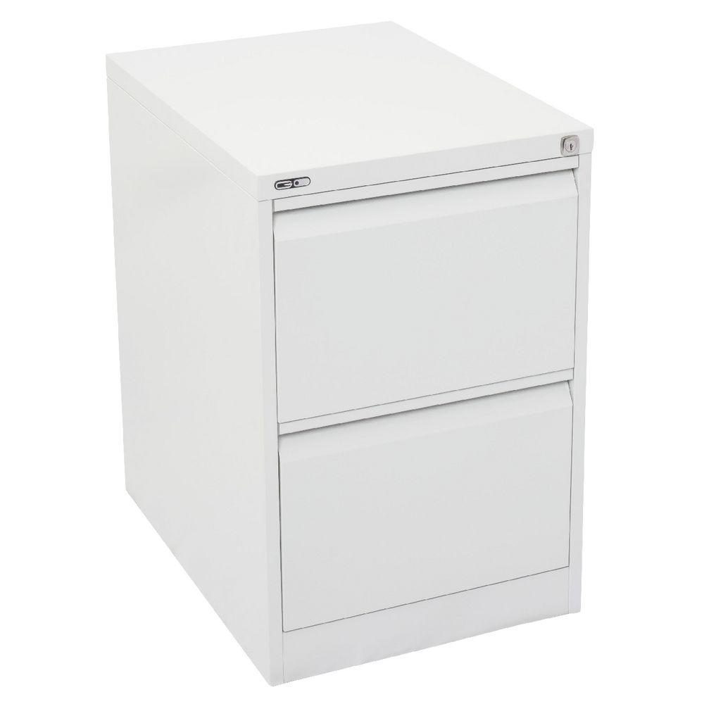 GO 2 Drawer Filing Cabinet White  Officeworks