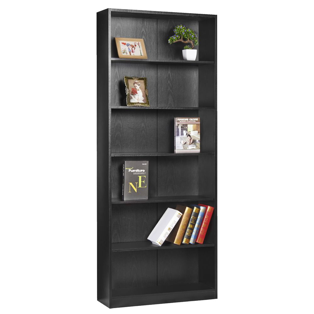 Austin 6 Shelf Bookcase Black