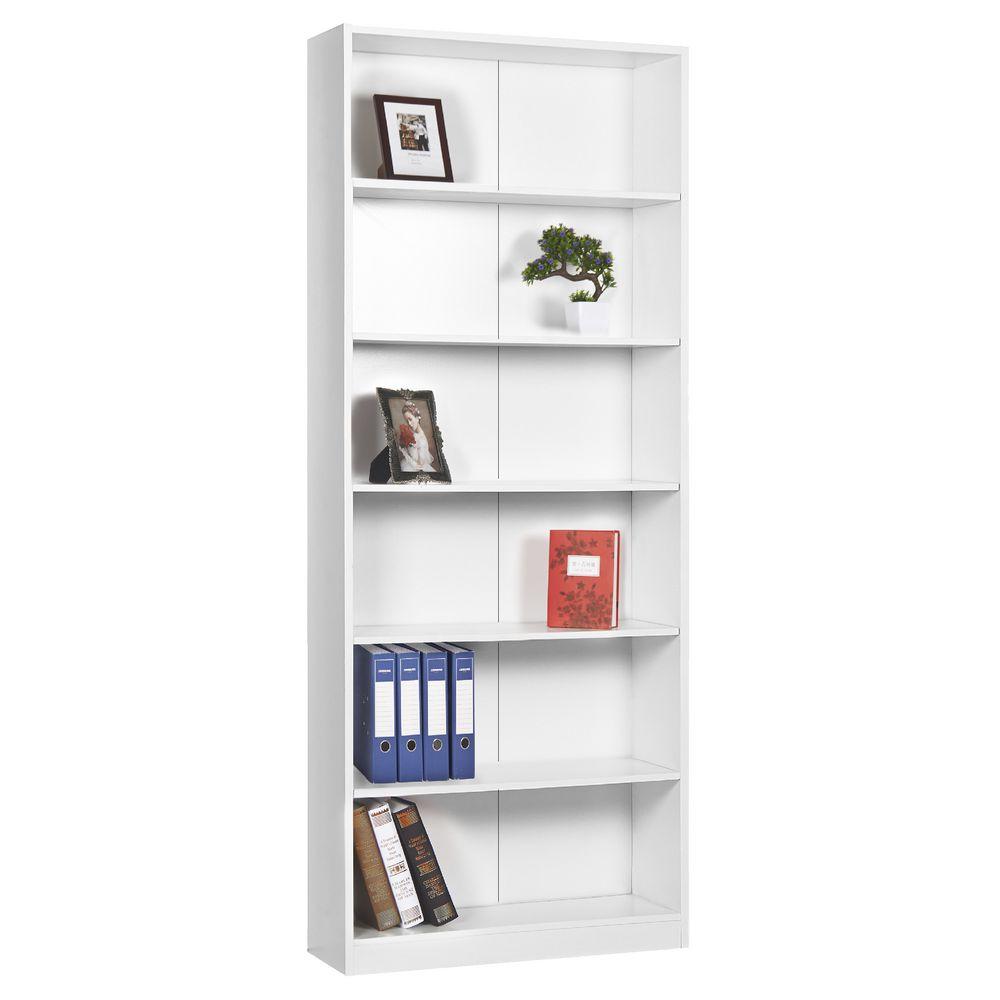 Austin 6 Shelf Bookcase White Officeworks
