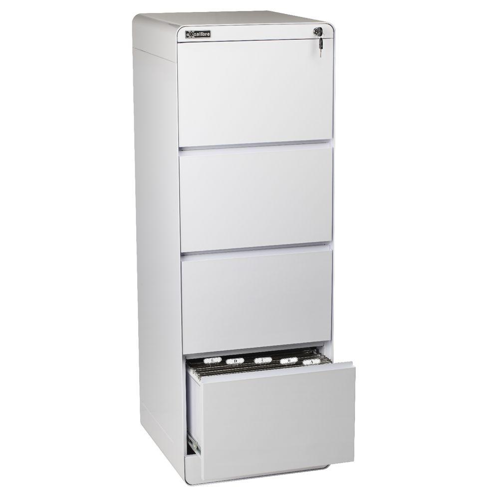 Excalibre 4 Drawer Filing Cabinet White  eBay