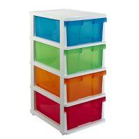 J.Burrows 4 Drawer Storage Cabinet Colour
