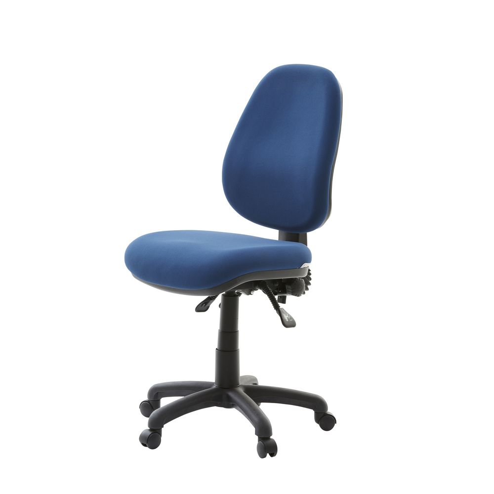 office chair adjustment levers backpack chairs matrix high back 3-lever blue   officeworks