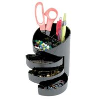 Eldon 3 Drawer Stationery Holder Black | eBay