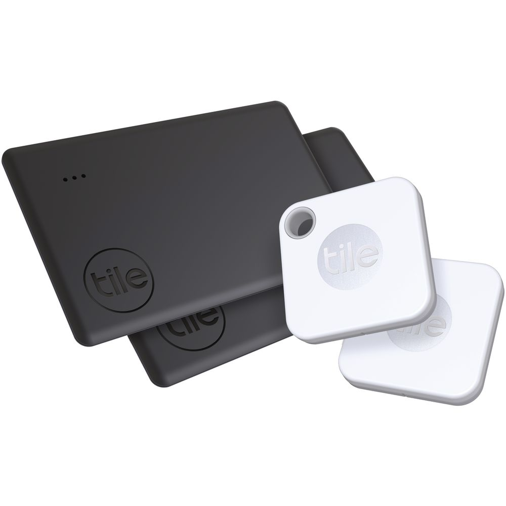 tile mate and slim 2020 bluetooth trackers 4 pack black white