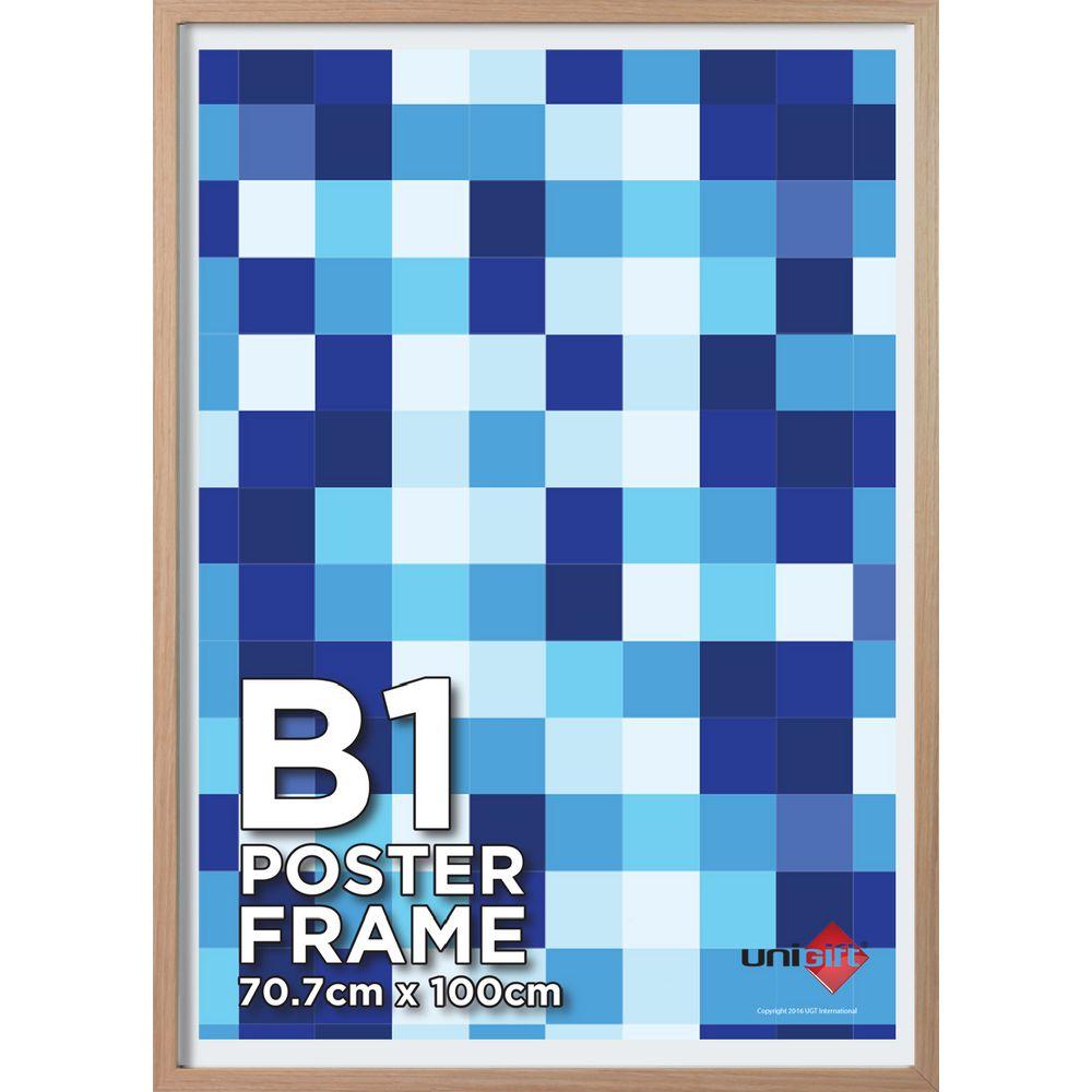 b1 poster frame oak