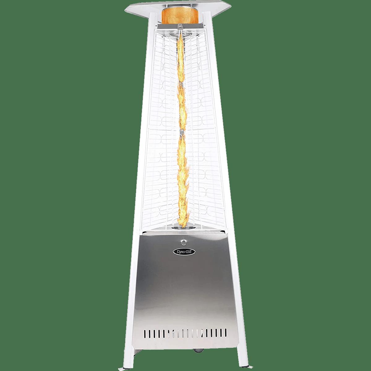 dyna glo 42 000 btu 73 stainless steel pyramid flame patio heater