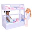 Dream Bunks Lilac Doll Bunk Bed Furniture Set Ourgeneration