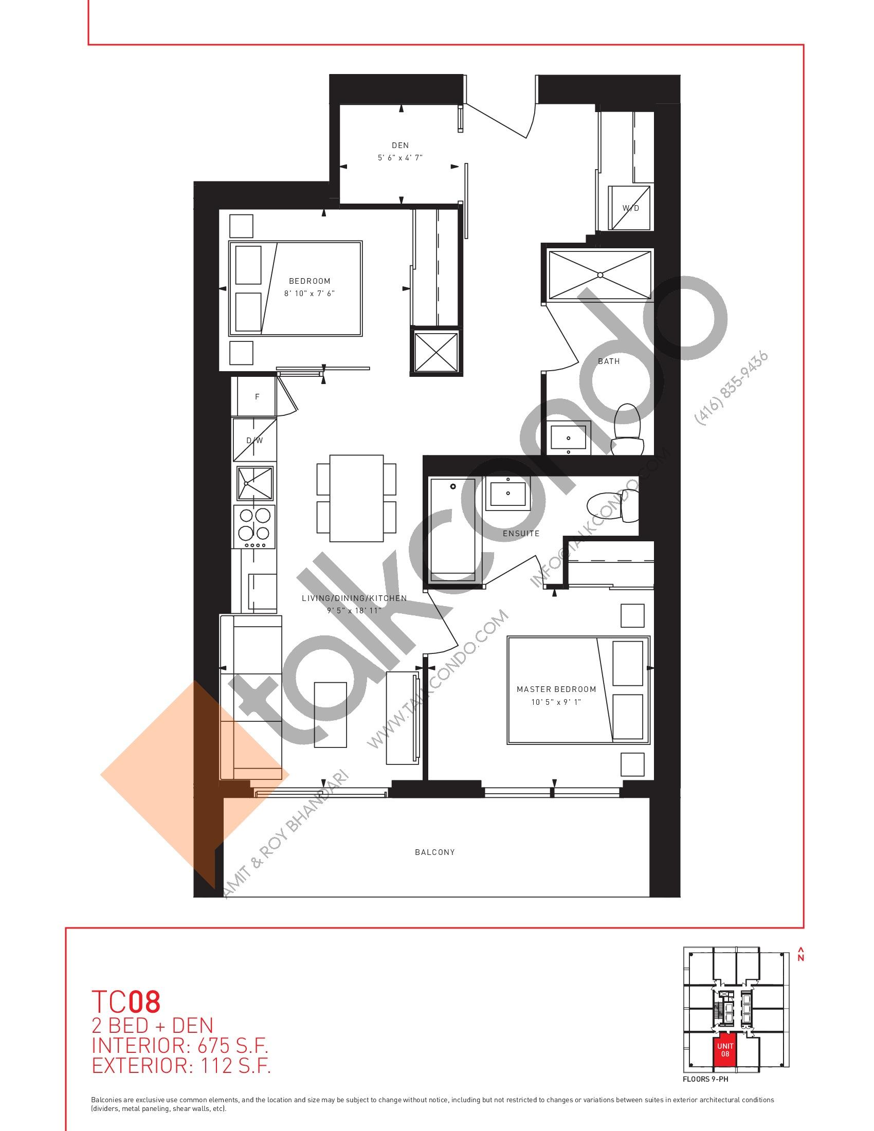 Transit City Condos East Tower TC3  TC08  675 sqft  25 bedrooms