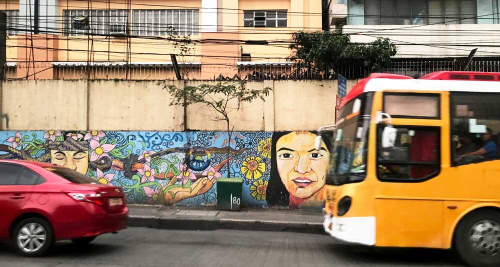 Painted Graffiti wall Philippines